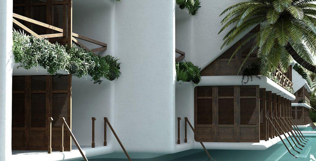 ou choisissez l'intimité de la chambre Beso Junior Suite Swim Up.