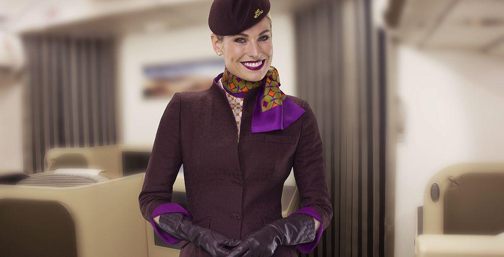 Bienvenue à bord d'Etihad Airways !