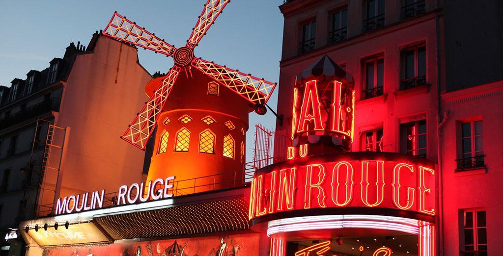 Just 50 yards from the Moulin Rouge!