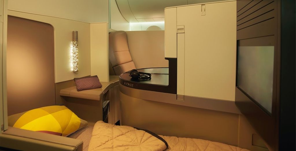 Choose business class for even more indulgence