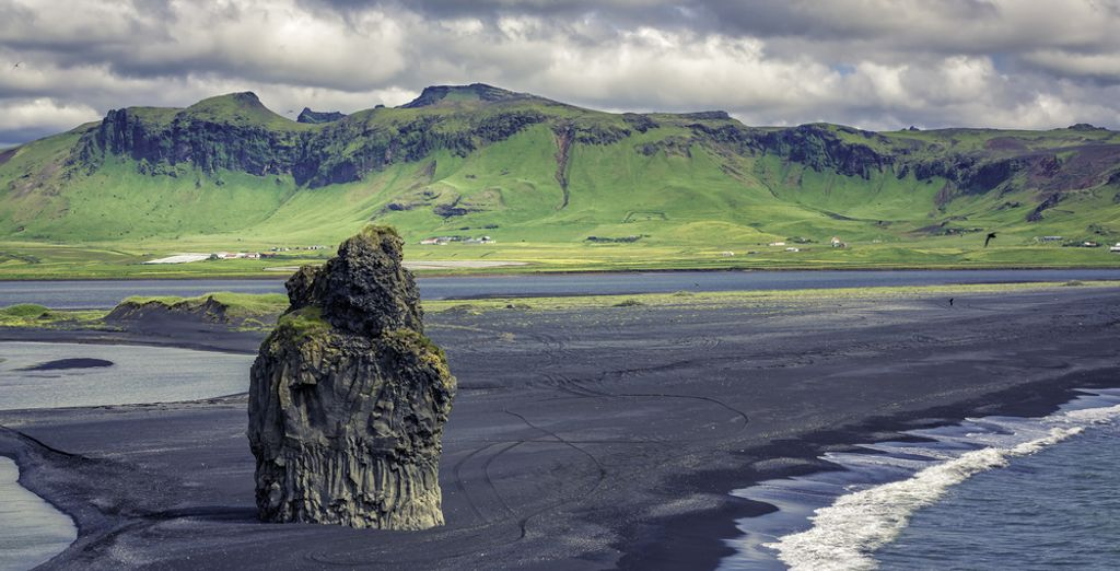 You can visit black sand beaches