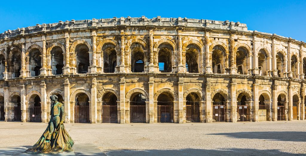 Oder Nîmes und seine legendäre Arena besichtigen