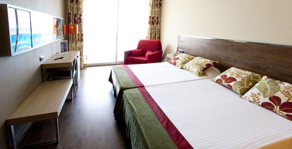 Die Zimmer sind sehr komfortabel