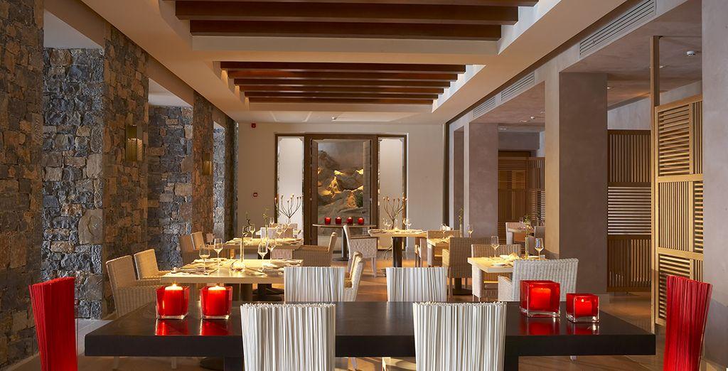 Genießen Sie griechischen Spezialitäten im hervorragenden Hotelrestaurant