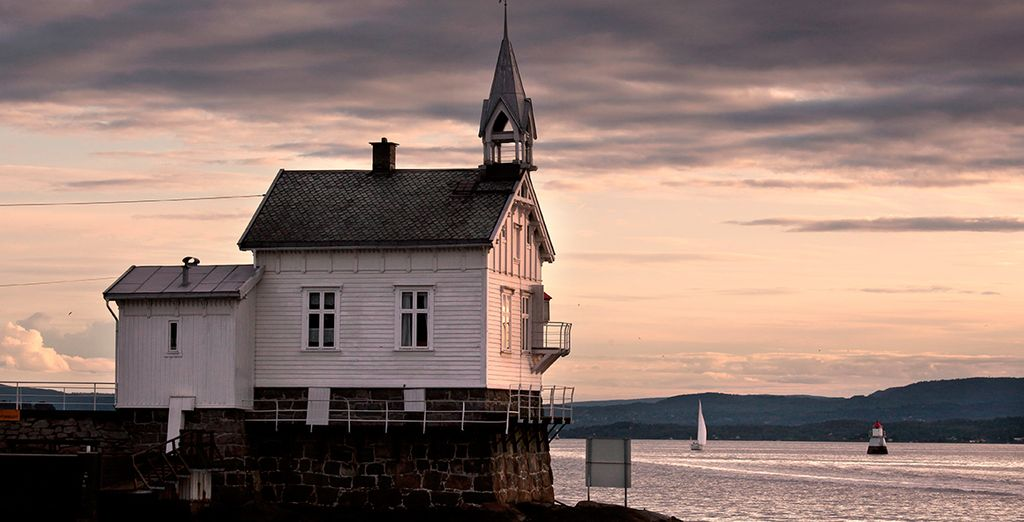 Anschließend gehen Sie auf Kreuzfahrt in den Oslofjord