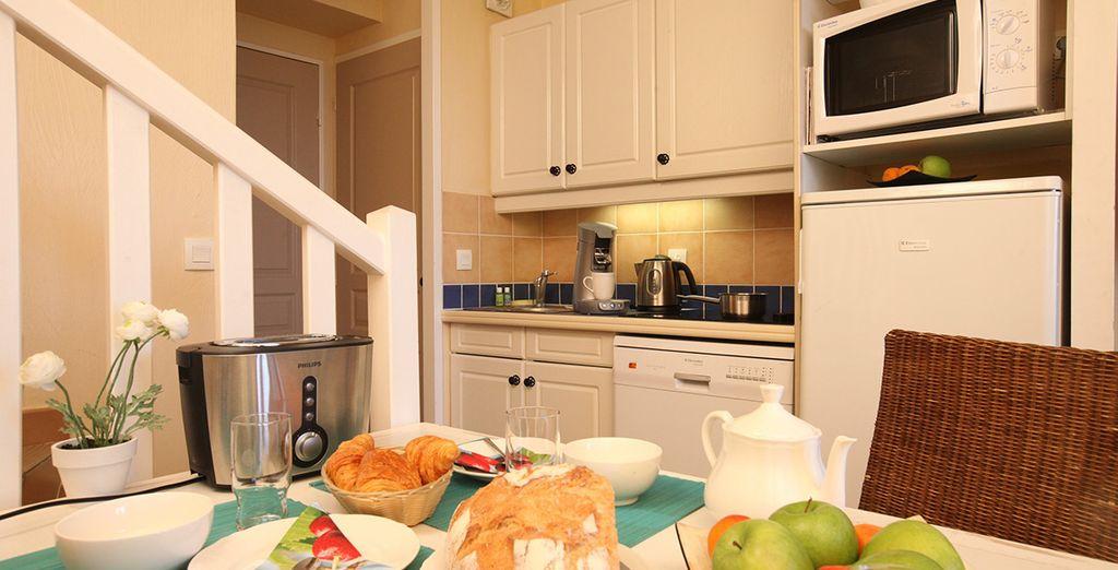 Die ausgestattete Küche ermöglicht Ihnen völlige Unabhängigkeit