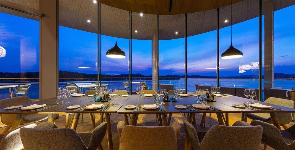 Speisen Sie am Abend außerdem in dem eleganten Hotelrestaurant