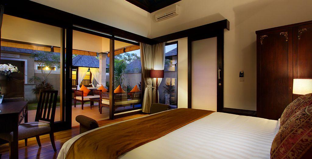 Freuen Sie sich auf die gemütliche Atmosphäre Ihrer One Bedroom Pool Villa