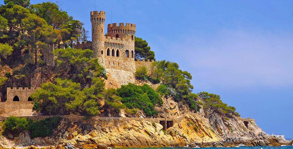 ... und das berühmte Schloss von Sant Joan