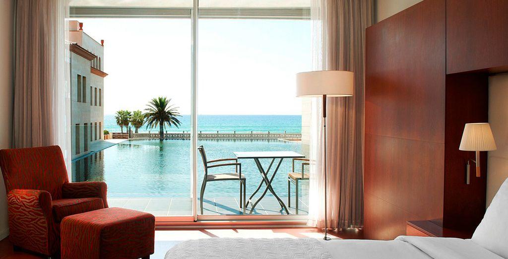 Ihnen steht der Sinn nach Luxus? Sie haben optional die Möglichkeit ein Premium Zimmer mit Meerblick zu buchen