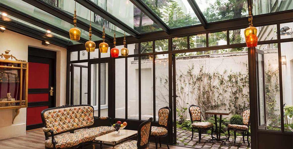 Willkommen im Hotel Sacha, eine Oase der Ruhe