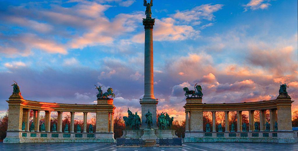 Und berühmte Denkmäler wie der Heldenplatz