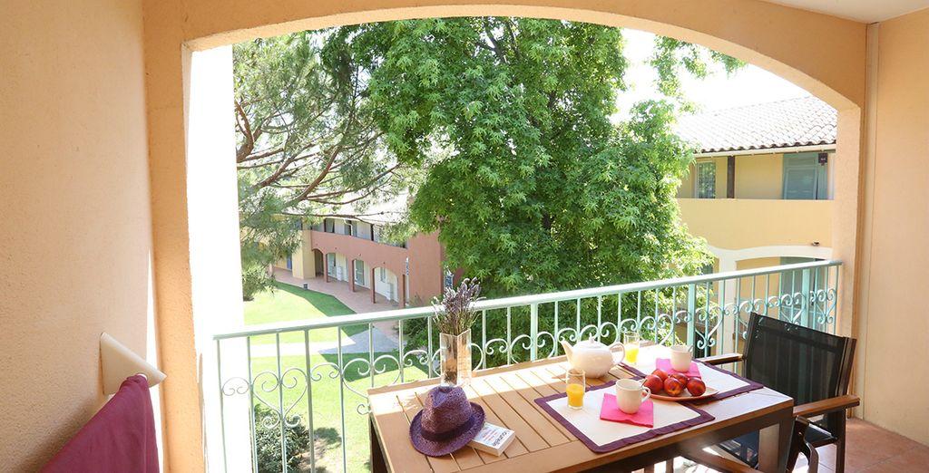 Genießen Sie das milde Klima auf dem eigenen Balkon