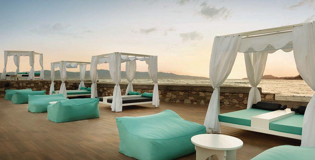 Entspannen Sie sich auf der Terrasse