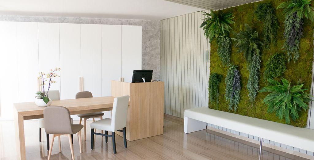 Das Design des Hotels ist sehr modern