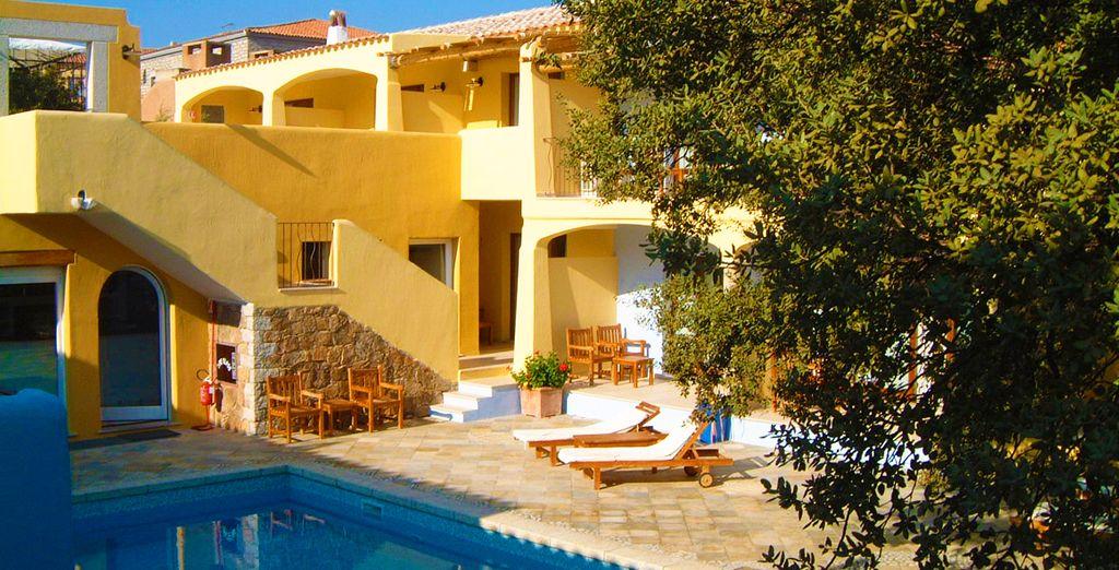Stellen Sie Ihre Koffer im ruhigen Papillo Resort Borgo Antico ab