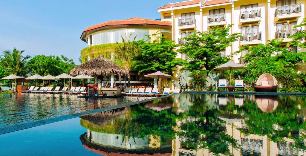 3 Nächte werden Sie im Marina Resort in Hoi An Silk untergebracht sein...