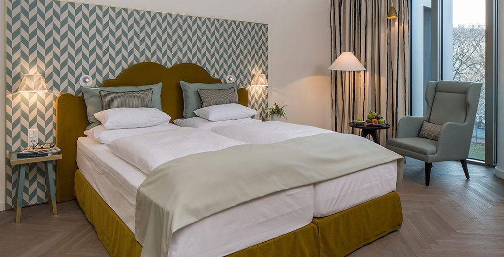 In Wien werden Sie in einem tollen Deluxe Zimmer übernachten