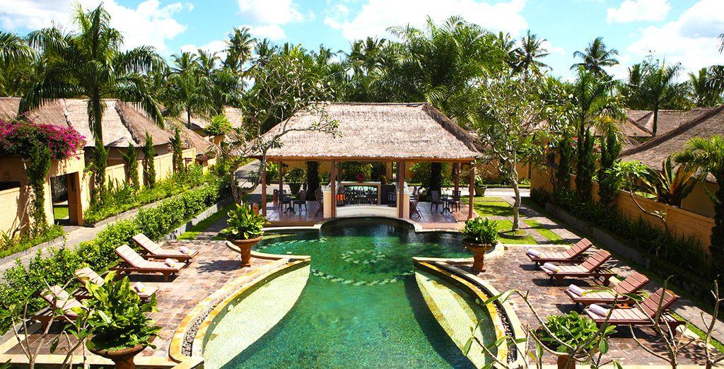 Ihre erste Adresse wird das Furama Villas & Spa 4* in Ubud sein