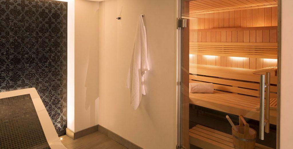 Ihnen steht eine Sauna zur freien Verfügung