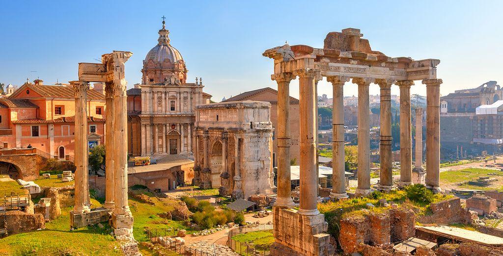 Bewundern Sie die Überreste der Antike