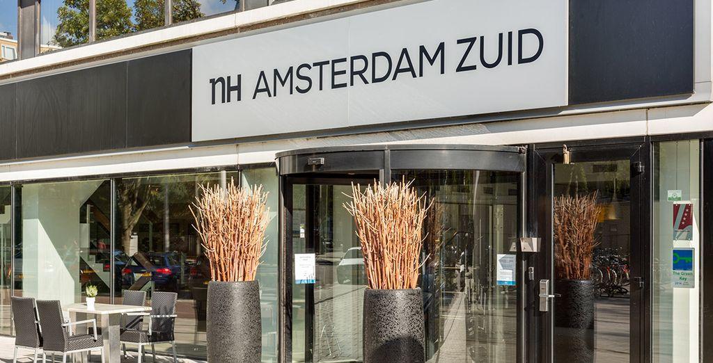 Das Hotel liegt in der ruhigen Gegend von Zuidas