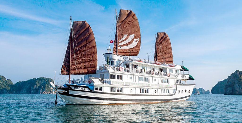 Sie werden eine Kreuzfahrt in die Ha Long Bay unternehmen