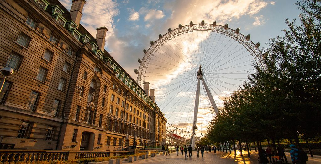 Sie können viele Sehenswürdigkeiten zu Fuß erreichen, wie zum Beispiel das London Eye