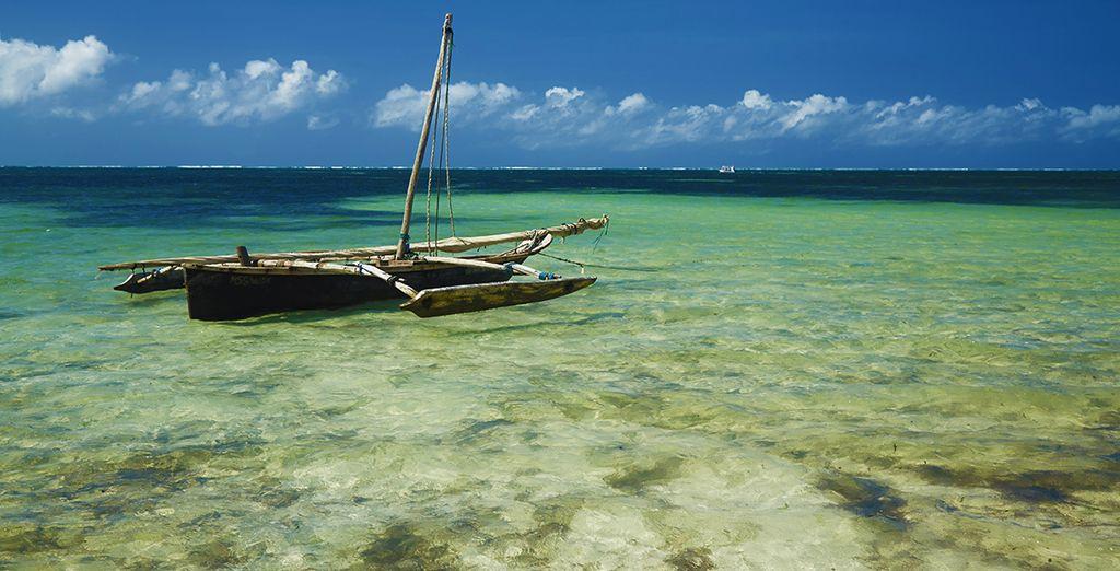 Entlang des Bamburi Beach, einer der schönsten Strände Kenias!