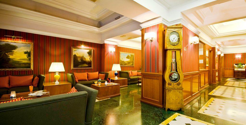 Ein Hotel im klassischen, eleganten Stil