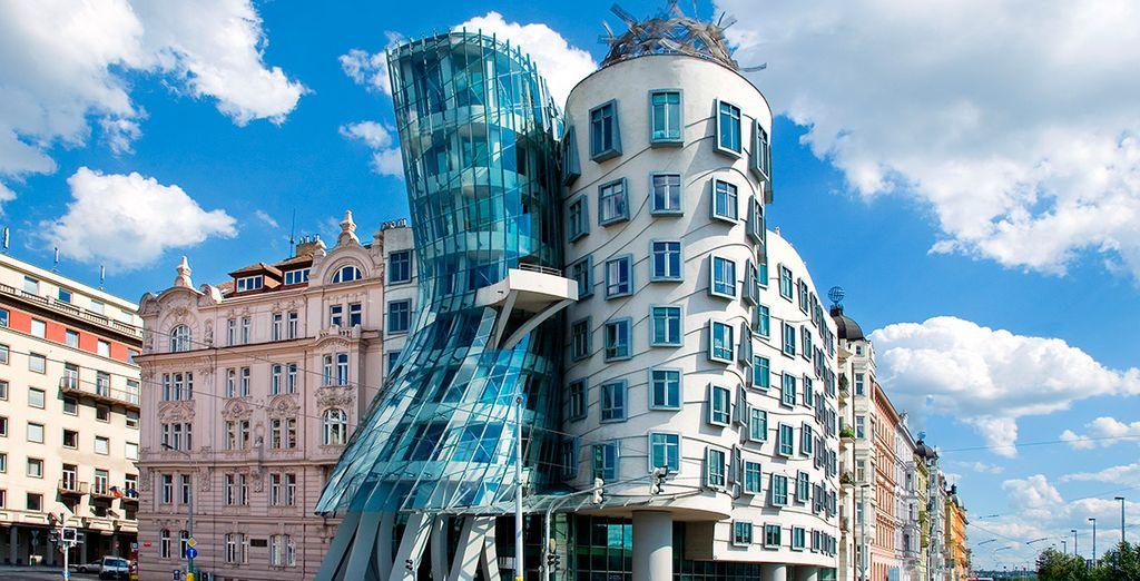 Auffällig moderne Bauten