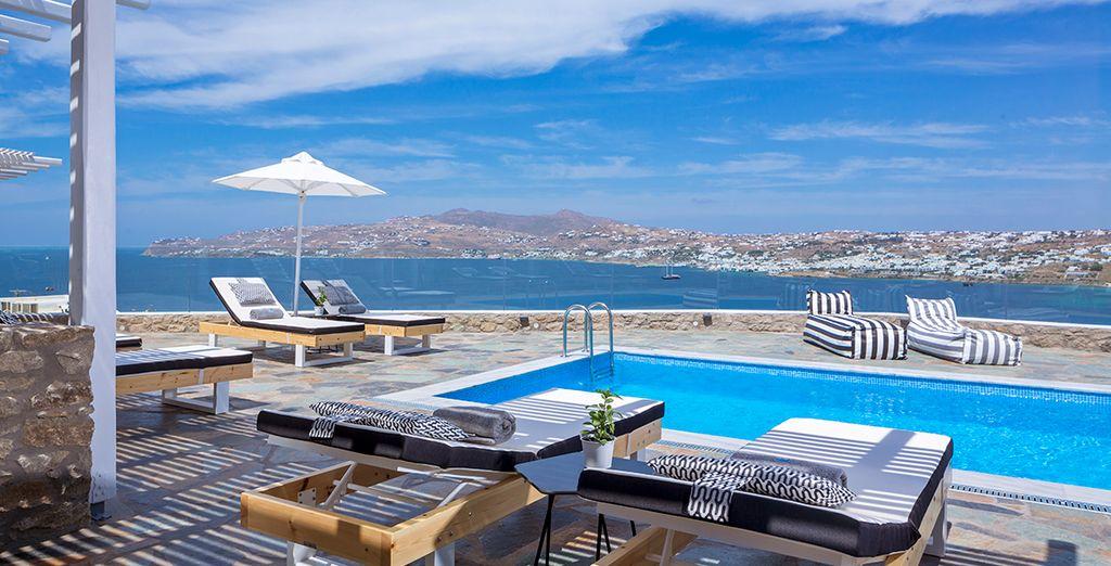 Im luxuriösen Mykonos No5 Hotel
