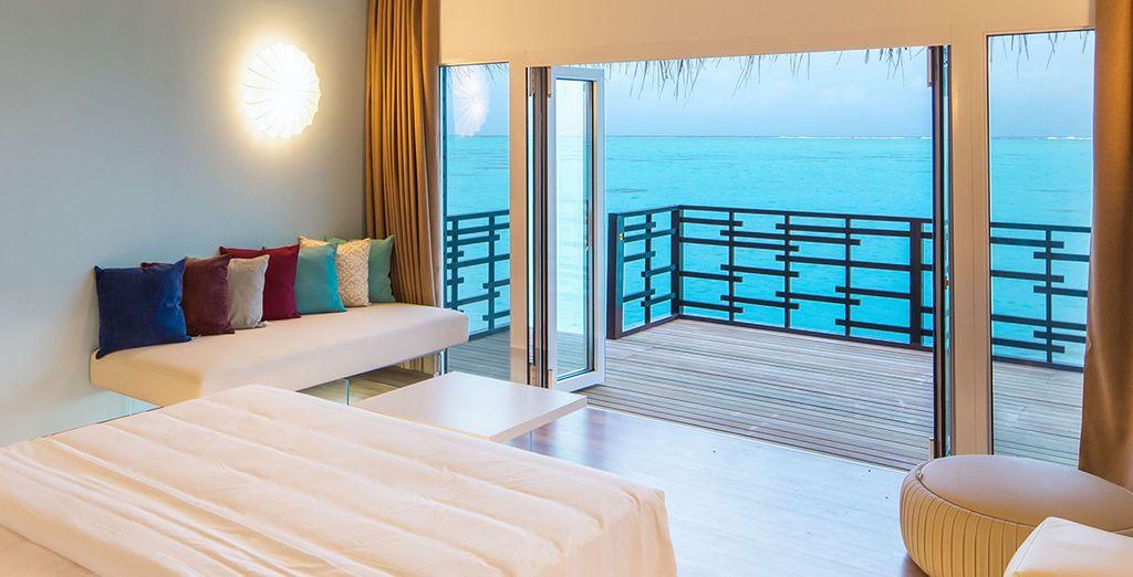 Genießen Sie die Aussicht der Lagoon Suite