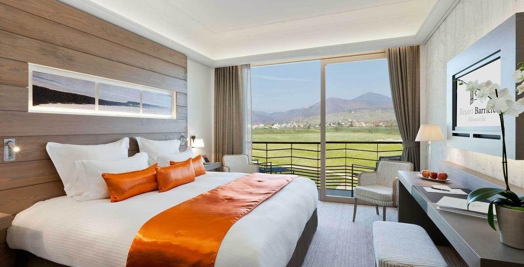 Oder entscheiden Sie sich für ein Superior Zimmer mit Blick auf die Weinberge