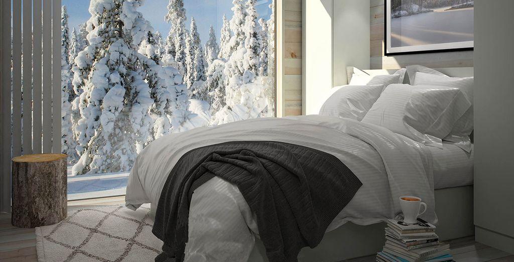 Sie übernachten im brandneuen Panorama Design Huts