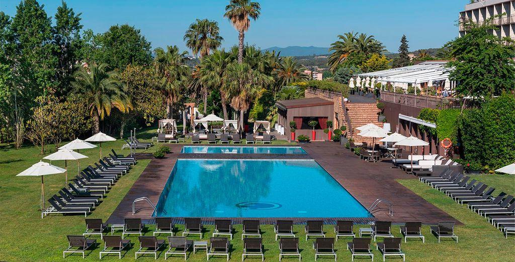Ein Hotel mit exotischem Garten und mediterranem Flair