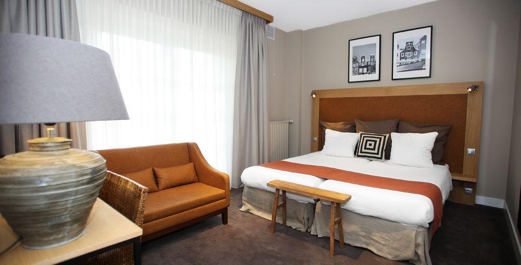 Übernachten Sie in einem Superior Zimmer in zeitgenössischem Design...
