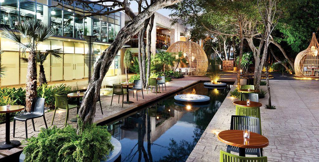 Eingebettet in einen schönen Garten
