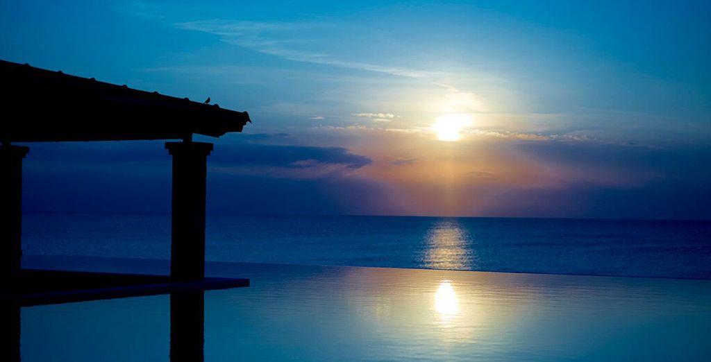 Entspannen Sie bei Sonnenuntergang!