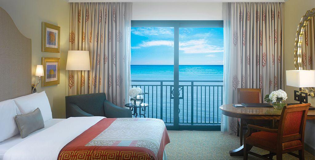 Sie übernachten in einem Ocean Deluxe Zimmer mit atemberaubenden Ausblick
