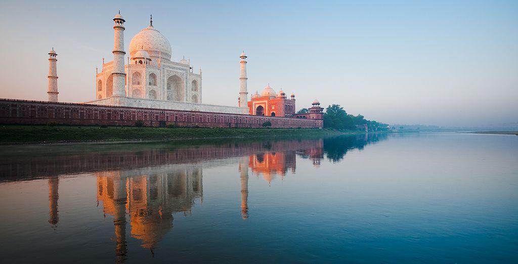 Wo Sie das Taj Mahal, ein wahres Wunder der Architektur, bewundern können