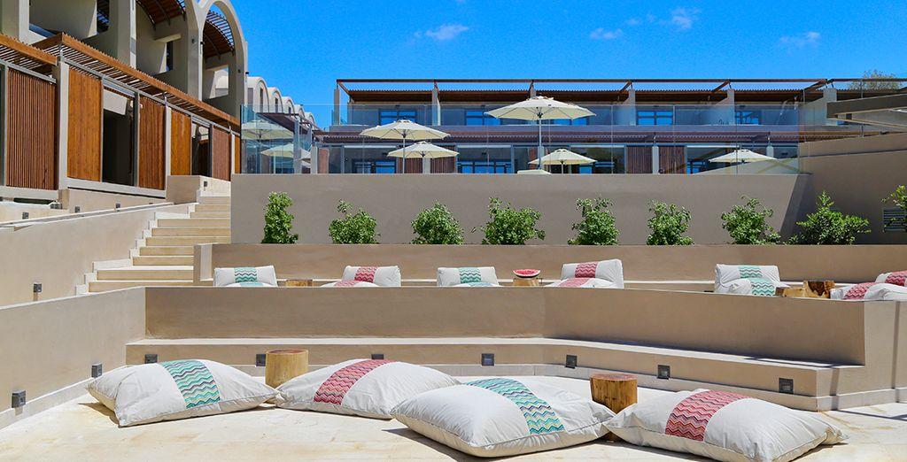 Relaxen Sie unter der Sonne Griechenlands