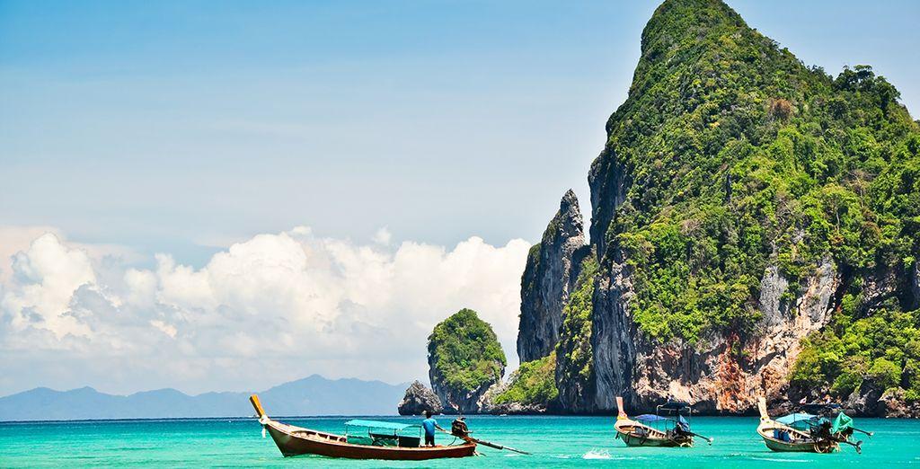 Weiter im Süden werden Sie anschließend das türkisfarbene Wasser der Andamanensee genießen
