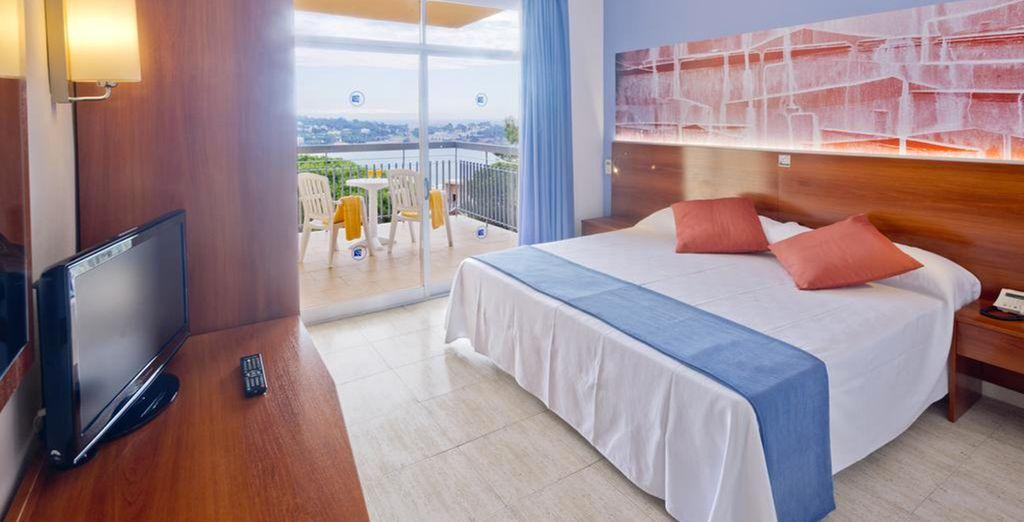 Oder entscheiden Sie sich optional für ein Zimmer mit Meerblick