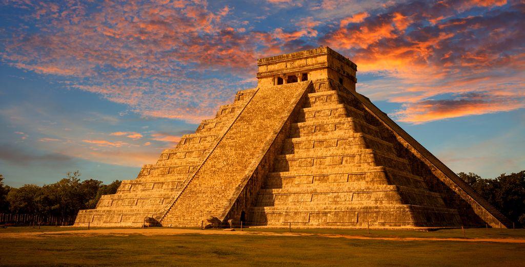 Die Ruinen der Mayas liegen direkt am Strand und sind auf jeden Fall einen Besuch wert!
