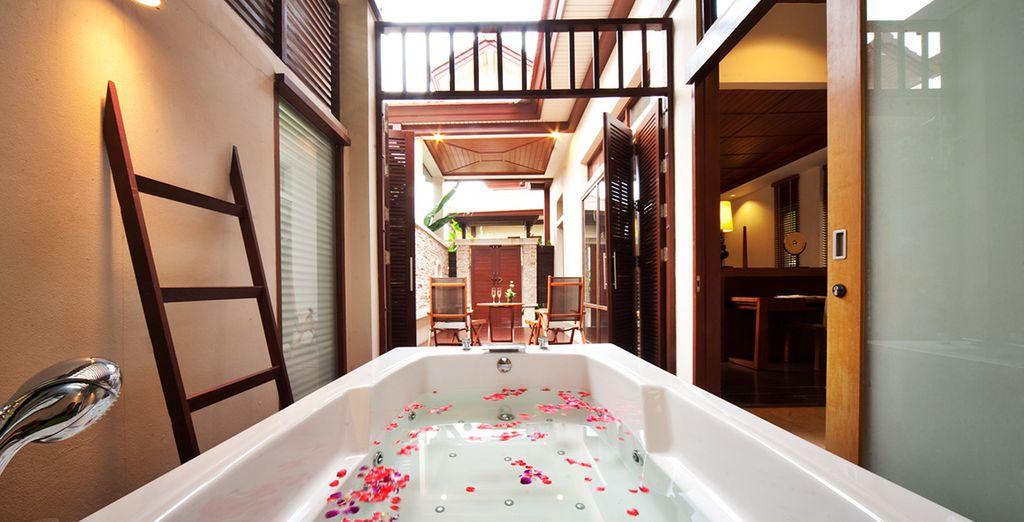 Entspannen Sie bei einem Bad