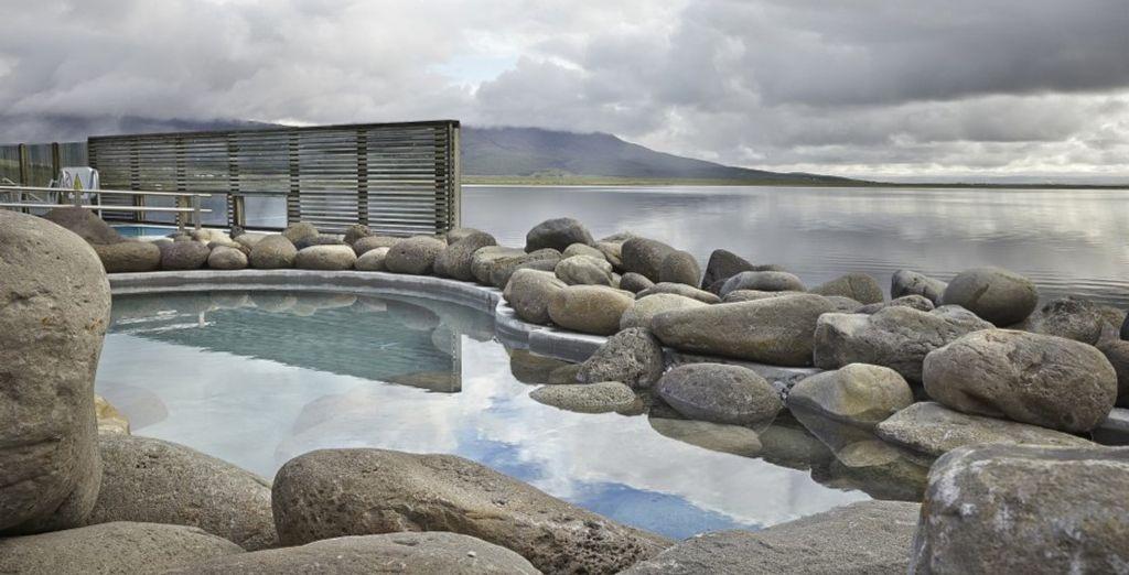 Hier können Sie sich in den natürlichen Spas entspannen