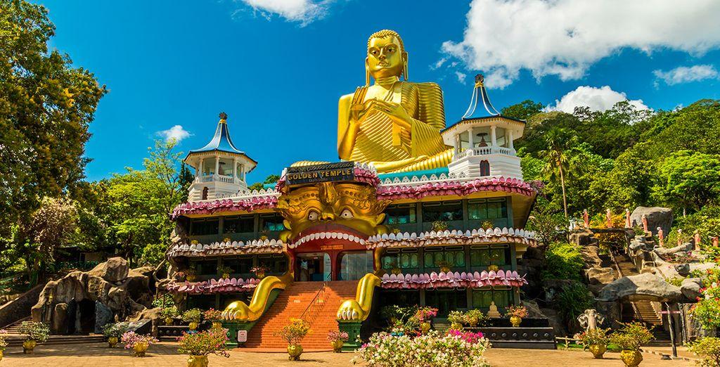 Der Felsentempel von Dambulla in Sri Lanka