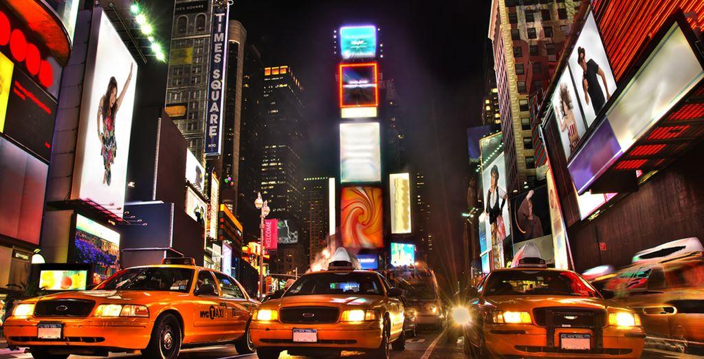 Entdecken Sie den Trubel am Times Square