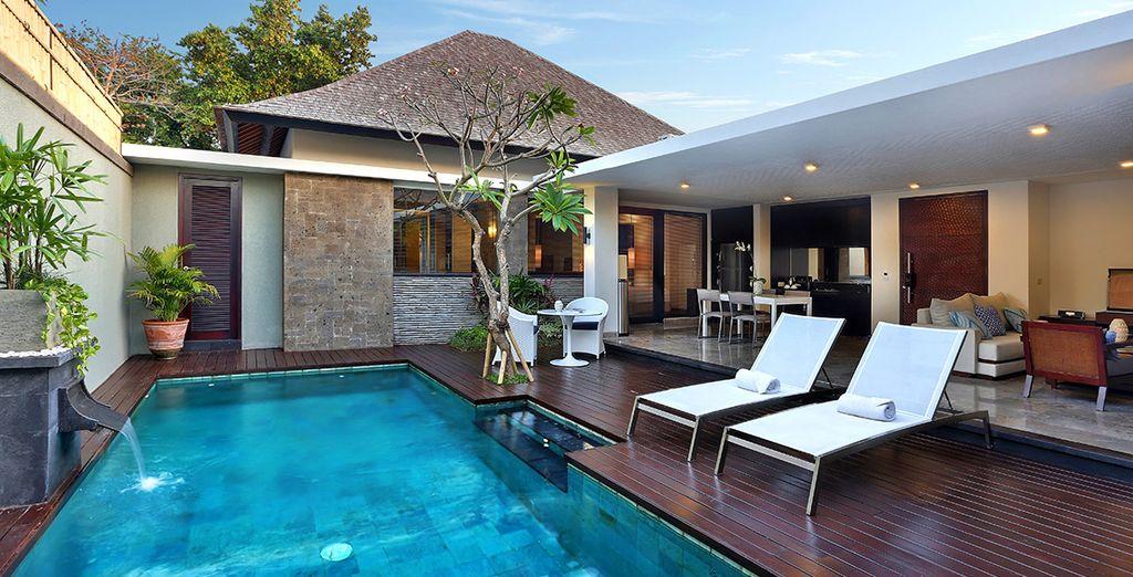 Donde las divinas villas con piscinas privadas te están esperando...